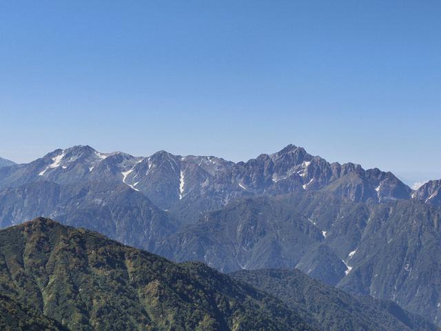 唐松岳 山小屋からの景色