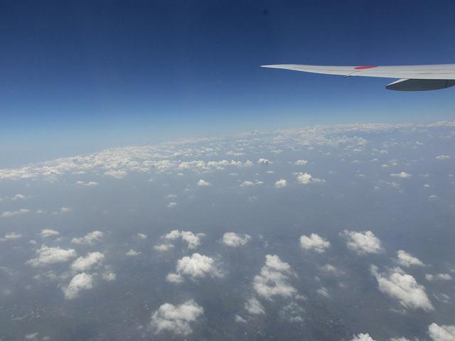 機内から見える景色