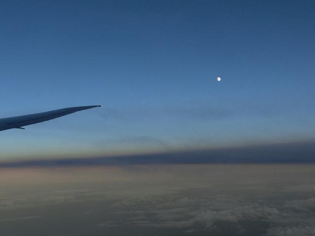 ロンドン 飛行機からの景色