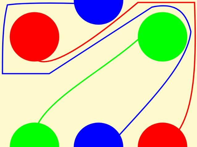 同じ色の円を線で結んでください_回答
